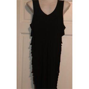 Side Cutout Stretchy Dress 2X